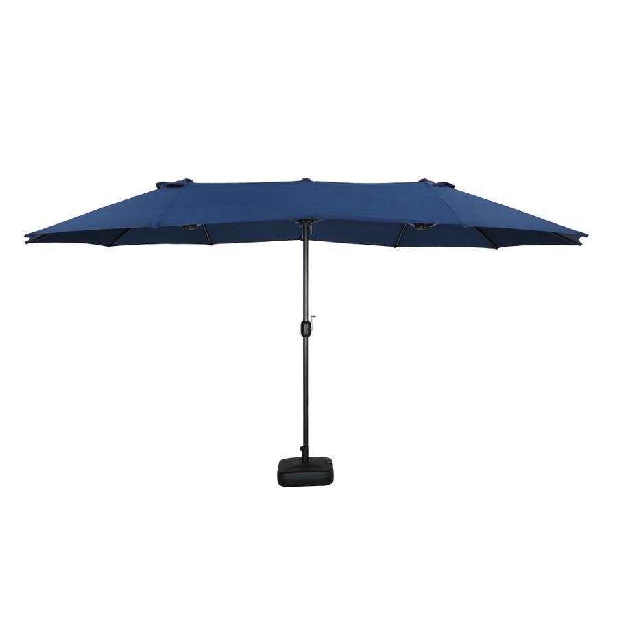top home space 9 ft blue no tilt market patio umbrella