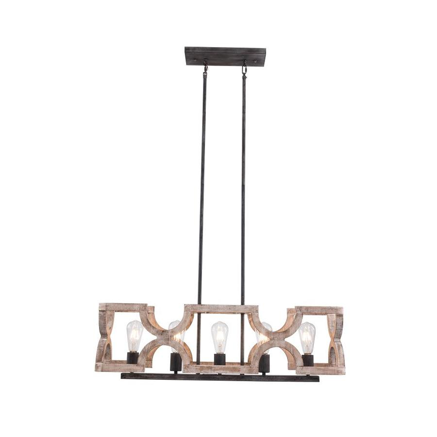 oaks decor farmhouse wood chandelier weathered wood french country cottage linear led kitchen island light