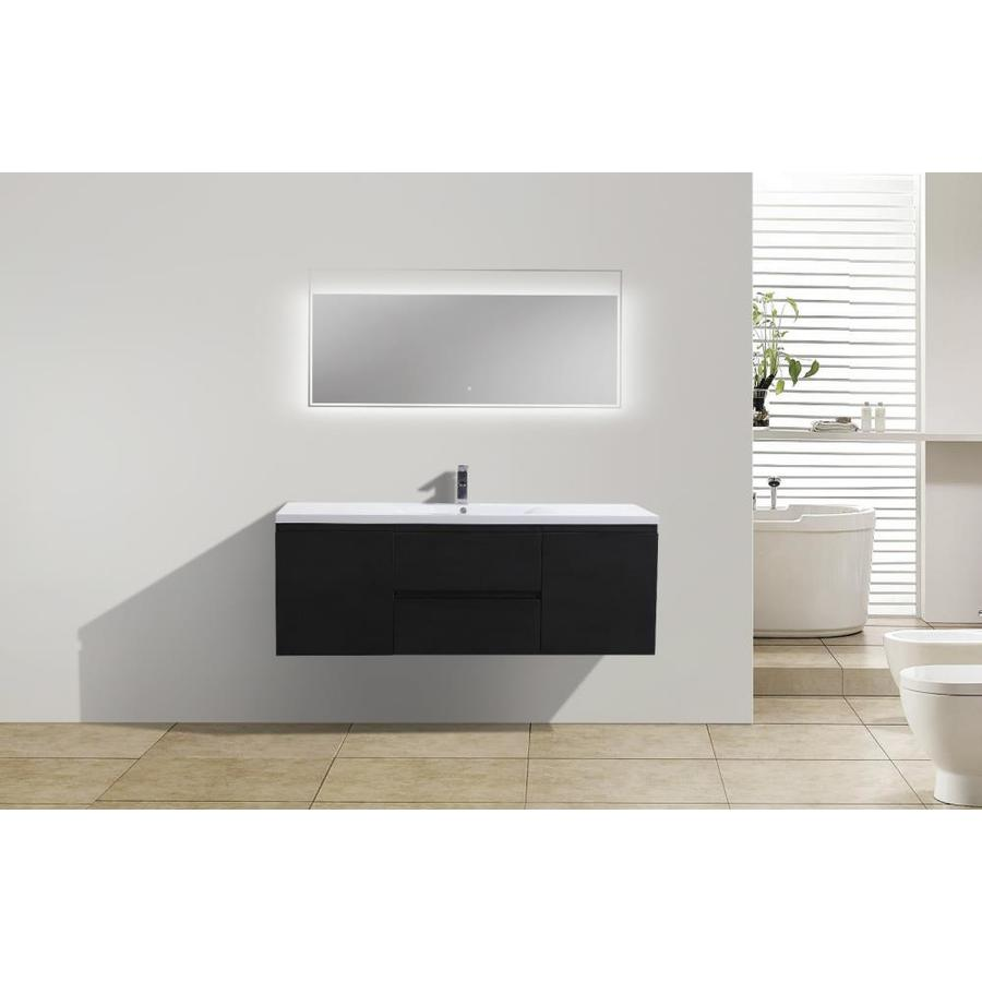 https www lowes com pd moreno bath bohemia 60 in rich black finish wall mounted bath vanity with single basin reinforced acrylic sink 5001619207