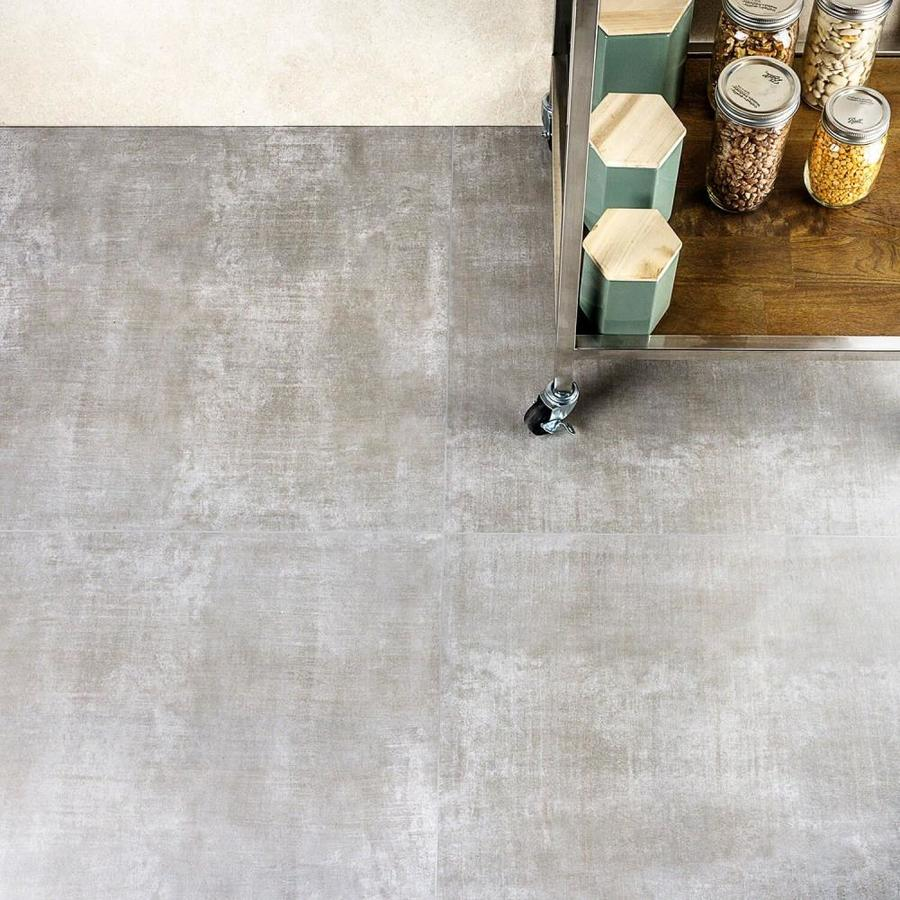 artmore tile primary cement 4 pack grigio 24 in x 24 in matte porcelain cement look floor and wall tile