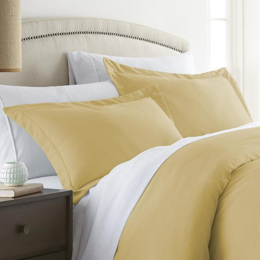 ienjoy home 2 pack home gold king microfiber pillow case