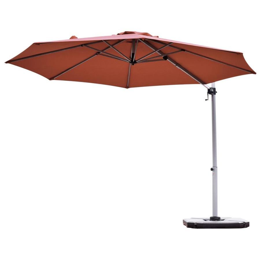 casainc 11 ft brick red crank cantilever patio umbrella