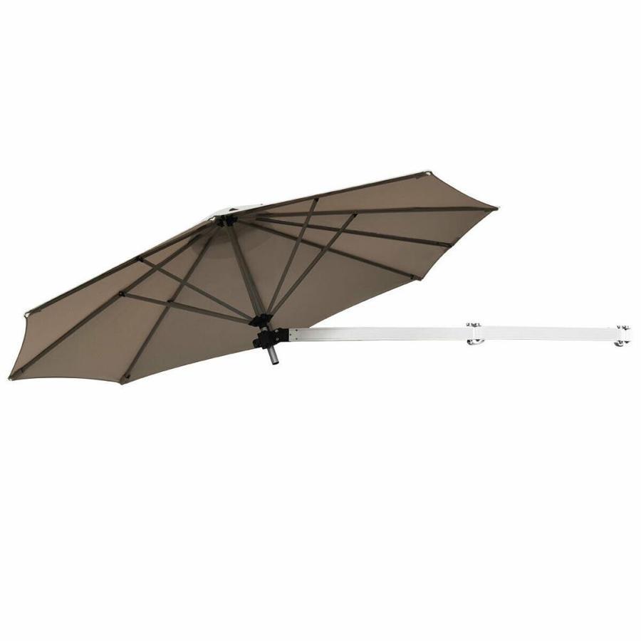 casainc 8 ft tan garden patio umbrella