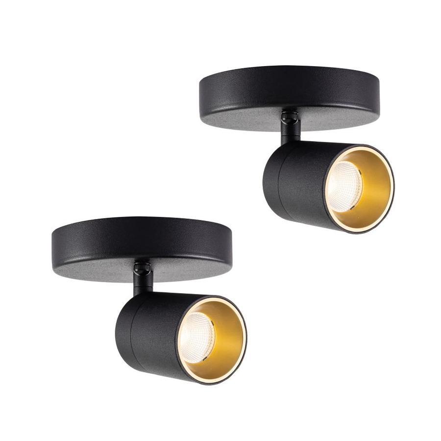 vidalite modern led spotlight sconce lighting adjustable flush mount spot lighting head sand black 2 pack