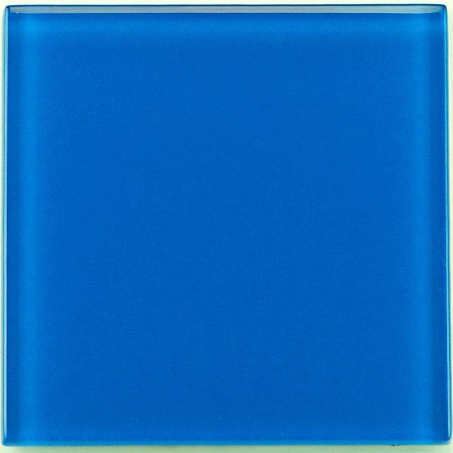 crossville high fidelity 45 pack royal blue 4 in x 4 in glossy glass wall tile