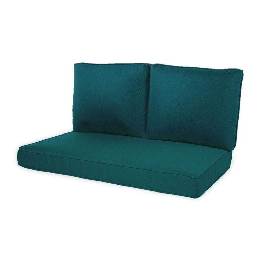 haven way 3 piece teal patio loveseat cushion