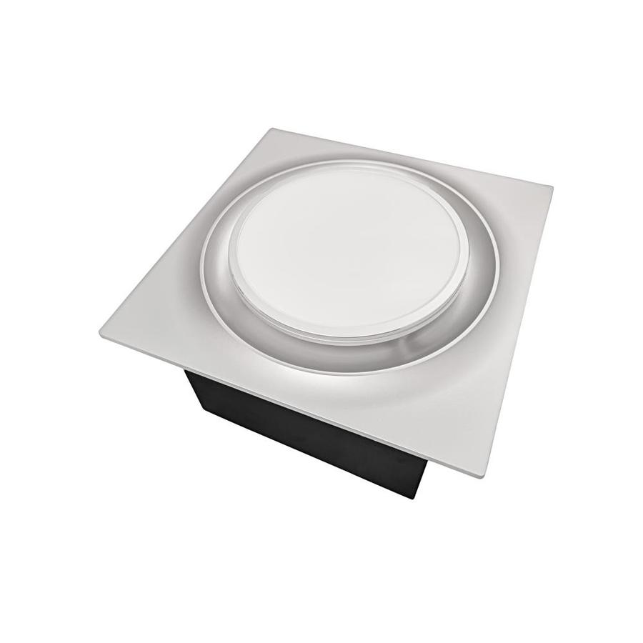 aero pure quiet 110 cfm 0 9 sones low profile bathroom ceiling exhaust fan with 10w led light and night light oil rubbed bronze energy star