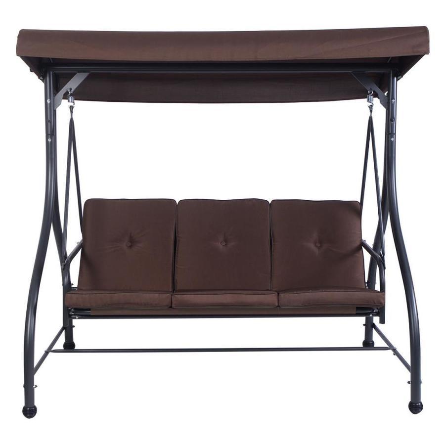 clihome 3 seats brown outdoor patio