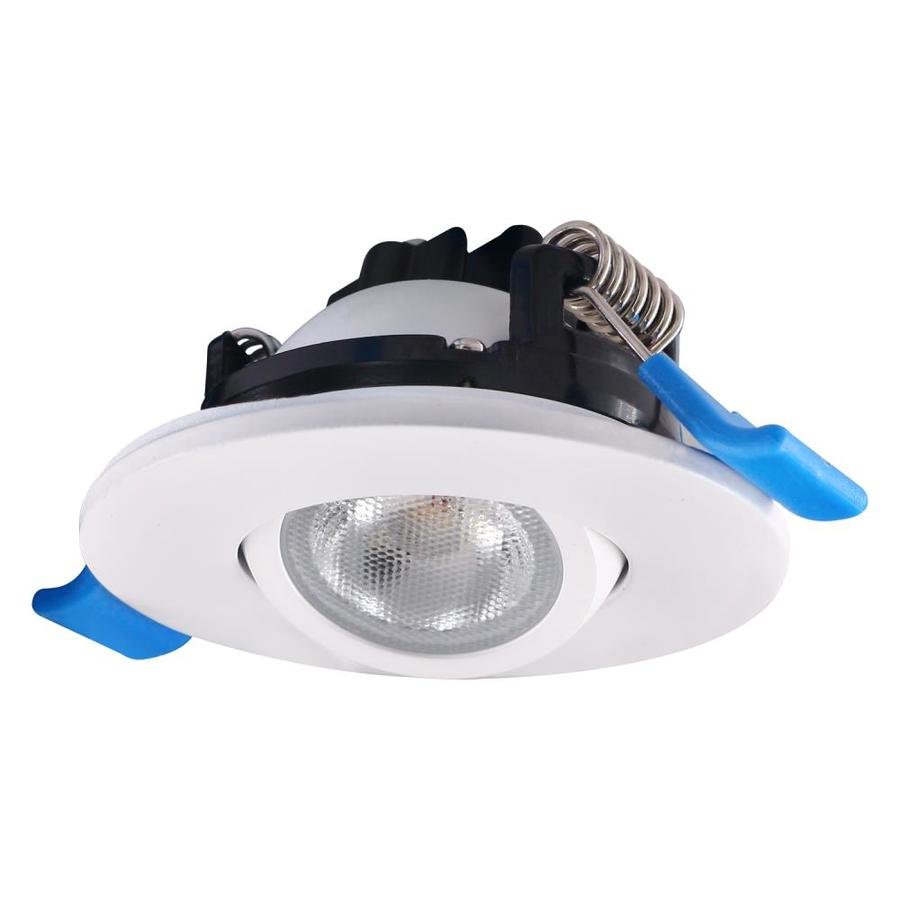 designers fountain 2 in 4000k canless remodel directional gimbal white integrated led recessed light kit
