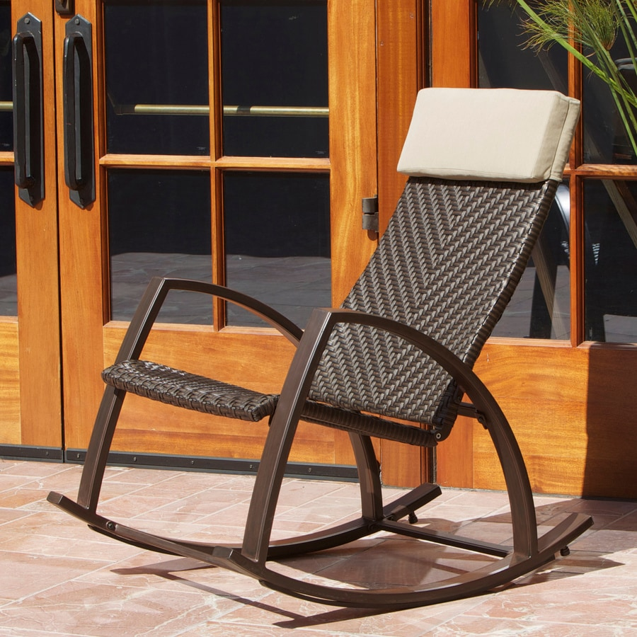 woven rocking chair ball chairs for students rst outdoor espresso aluminum seat at