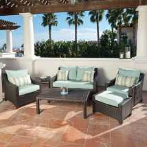 Rst Brands Deco 6-piece Wicker Frame Patio Conversation