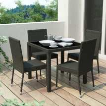 Corliving Park Terrace 5-piece Black Wood Frame