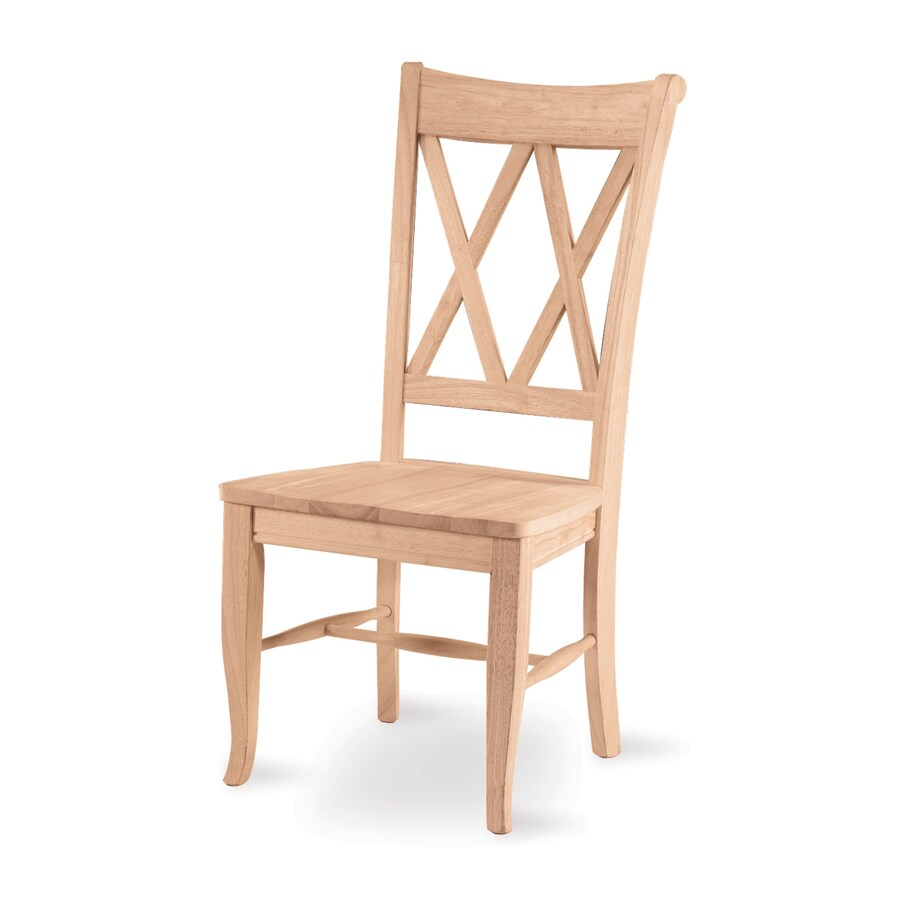 Kitchen Chairs Wood International Concepts Set Of 2 Natural Side Chairs At Lowes