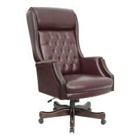 Shop Flash Furniture Mahogany/Burgundy Top Grain Leather ...