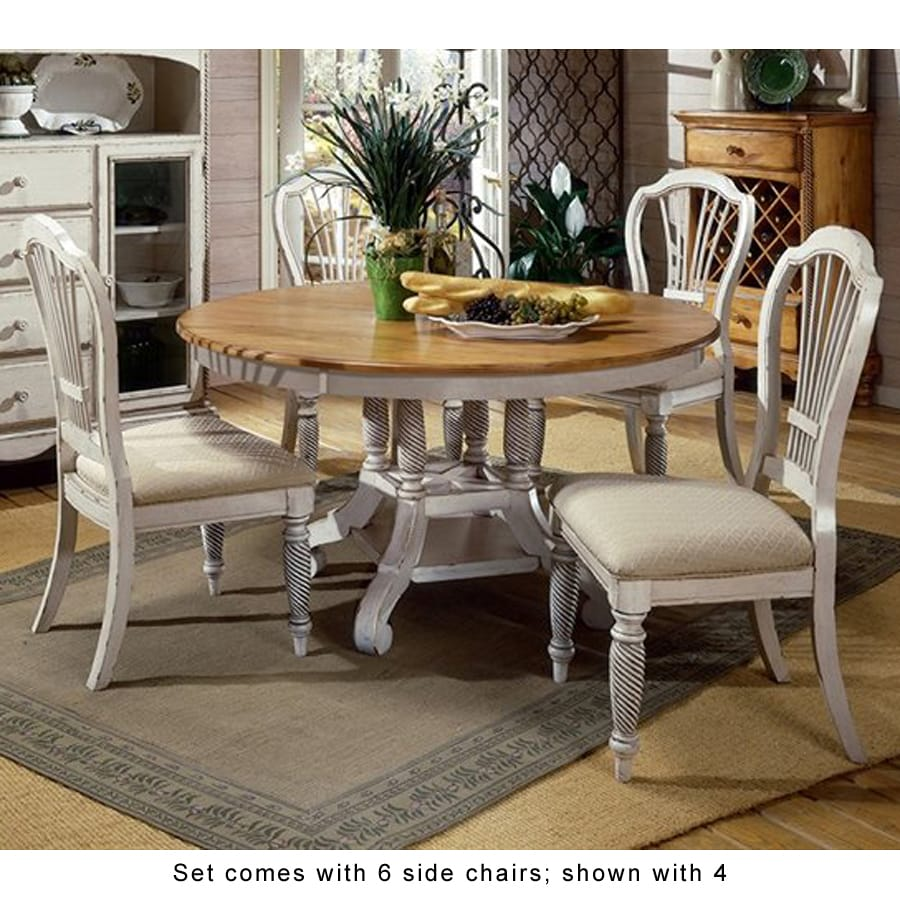 antique white dining chairs wedding banquet chair covers hillsdale furniture wilshire set at lowes com