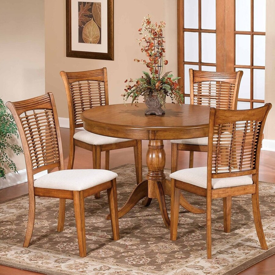 oak kitchen table sets sink grids hillsdale furniture bayberry 5 piece dining set with round