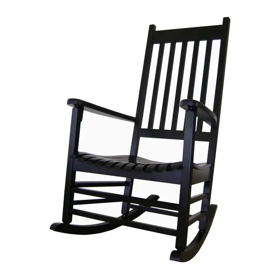 Shop International Concepts Black Acacia Patio Rocking Chair at Lowescom