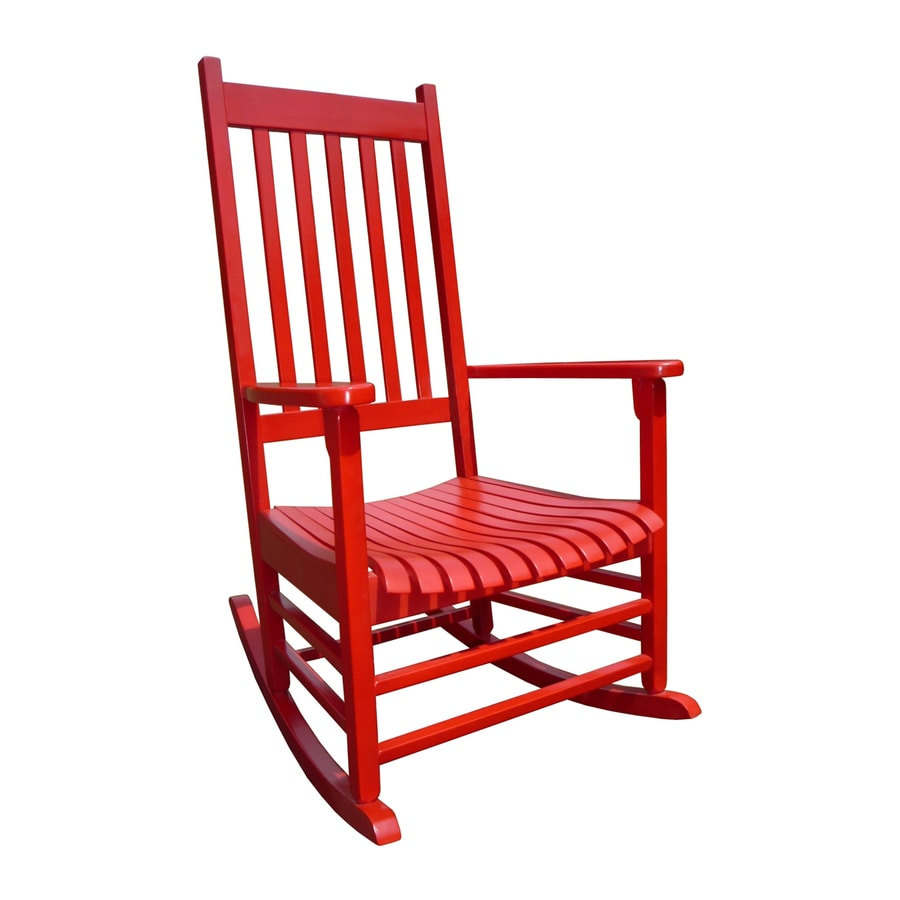 pd international concepts red acacia patio rocking chair