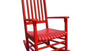 Shop International Concepts Red Acacia Patio Rocking Chair