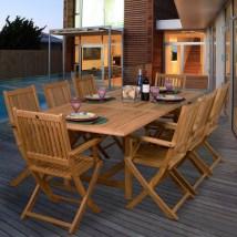 International Home Teak 9-piece Brown Wood
