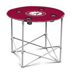 Folding Circle Chairs Cheap Leather Logo 30 In X Red Alabama Crimson Tide Table