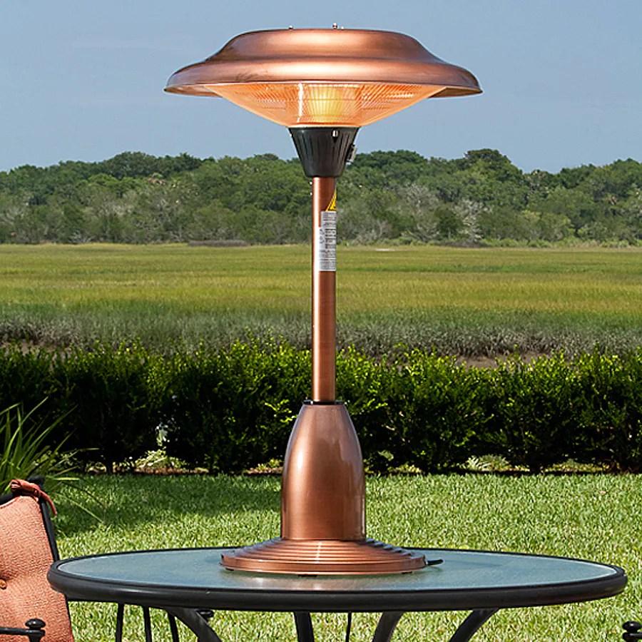 fire sense copper steel electric patio heater