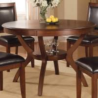 Shop Coaster Fine Furniture Nelms Wood Round Dining Table ...