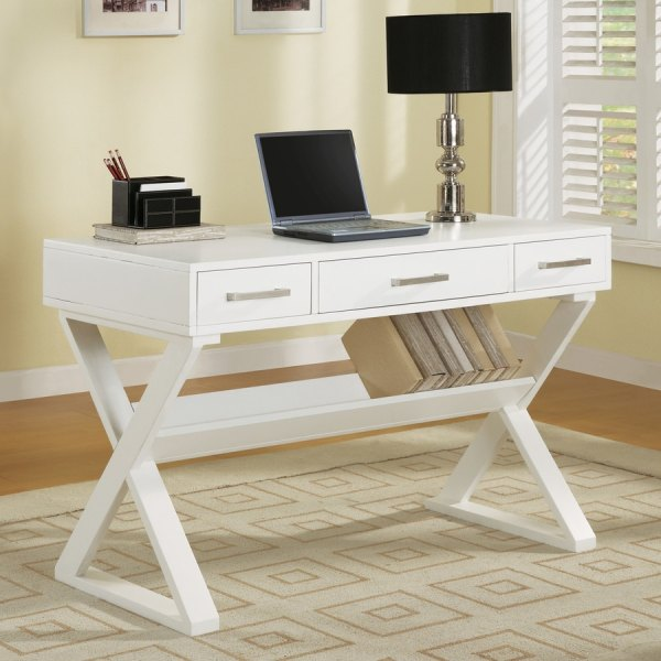 Coaster Fine Furniture Traditional White Writing Desk