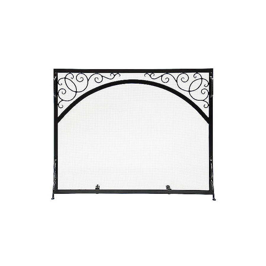 ACHLA Designs 30-in Graphite Iron 1-Panel Scroll (No Doors