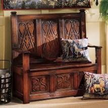 Design Toscano Monk' Bench Mission Shaker Antique