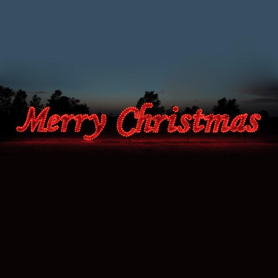 Merry Christmas Lights Sign