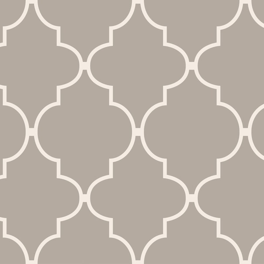 Shop Allen Roth Taupe Vinyl Geometric Wallpaper At Lowescom