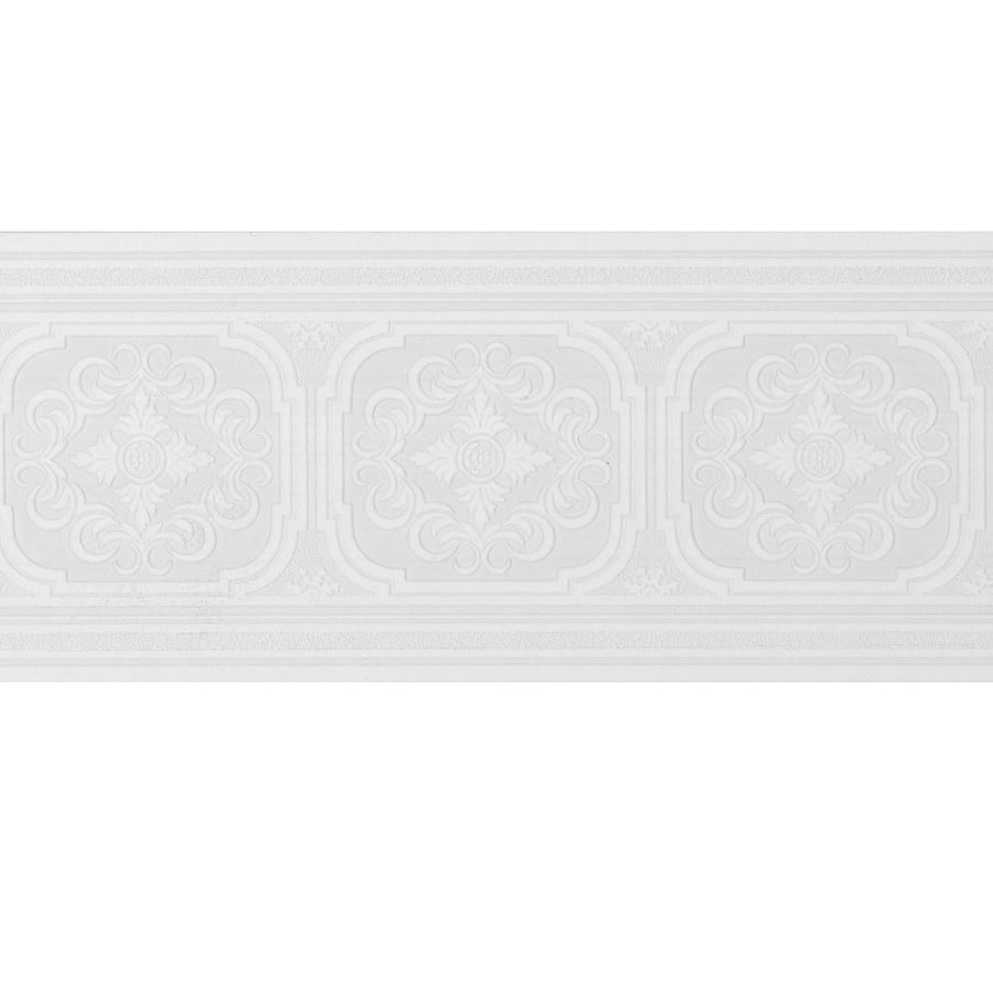 Style Selections 675in White Prepasted Wallpaper Border