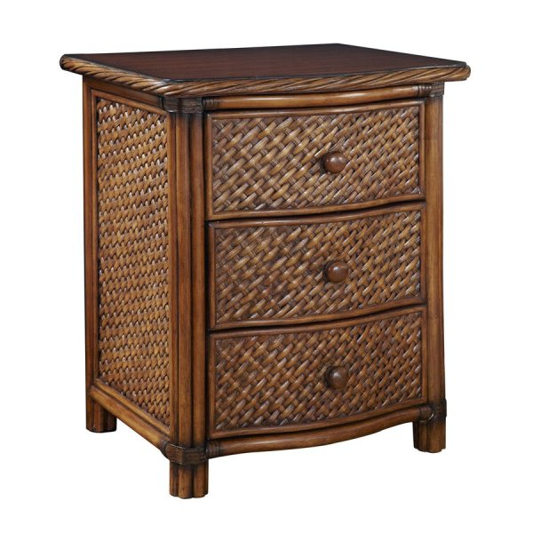 Home Styles Marco Island Cinnamon Wicker Nightstand