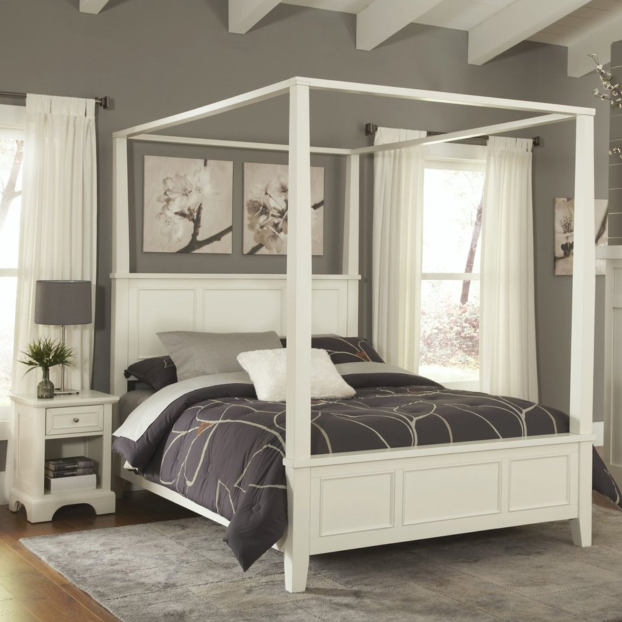 Home Styles Naples White Queen Bedroom Set At Lowes Com
