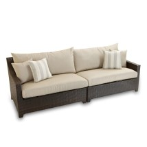 Rst Brands Deco Wicker Outdoor Sofa With Solid Slate