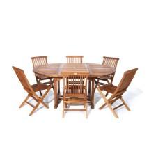 Cedar 7-piece Natural Teak Patio Dining