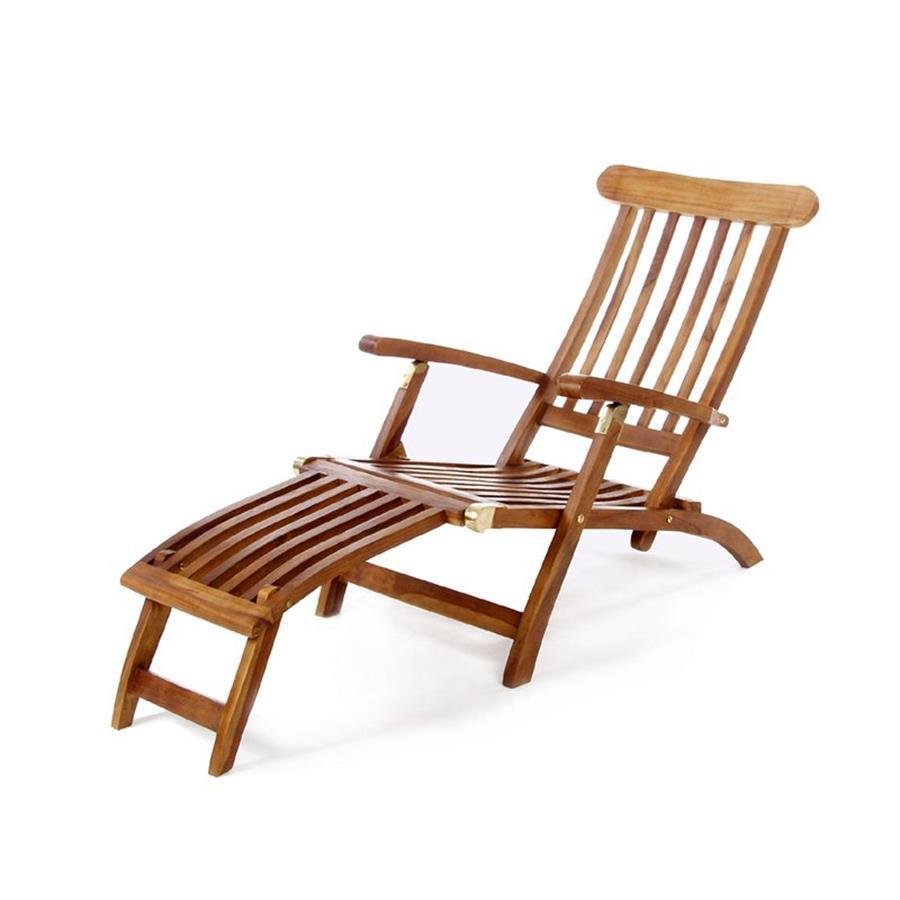 Teak Chaise Lounge Chairs All Things Cedar Teak Chaise Lounge Chair With Slat At Lowes