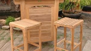 Anderson Teak Montego 3 Piece Brown Wood Frame Patio