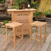 Anderson Teak Montego 3-piece Brown Wood Frame Patio