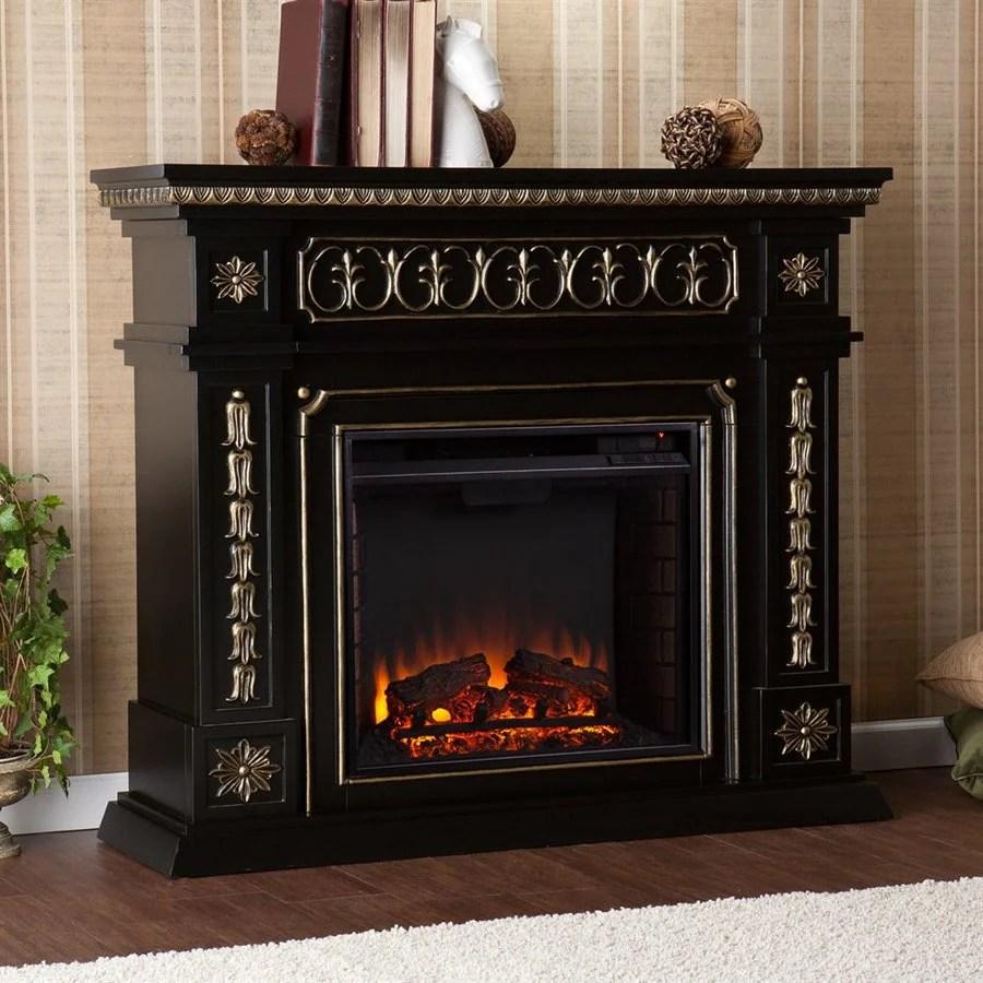 Boston Loft Furnishings 47 In W 4700 Btu Black Wood Veneer