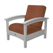 Trex Outdoor Furniture Rockport Classic White Plastic