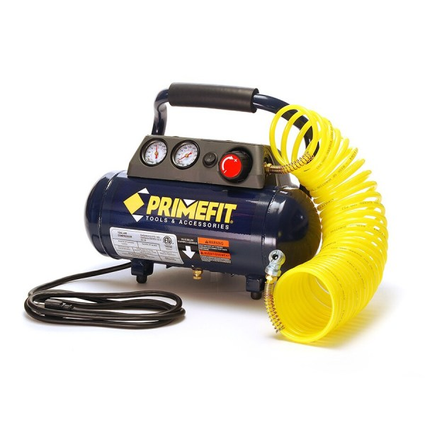 Primefit 1-gallon Portable Electric Horizontal Air Compressor