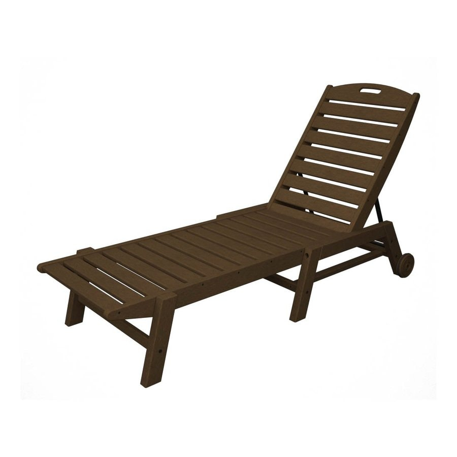 Shop POLYWOOD Nautical Stackable Plastic Chaise Lounge