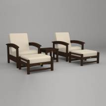 Trex Outdoor Furniture Rockport 5-piece Plastic Patio