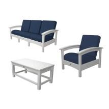 Trex Outdoor Furniture Rockport 3-piece Plastic Patio