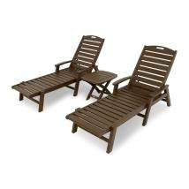 Trex Outdoor Furniture Yacht Club 3-piece Plastic