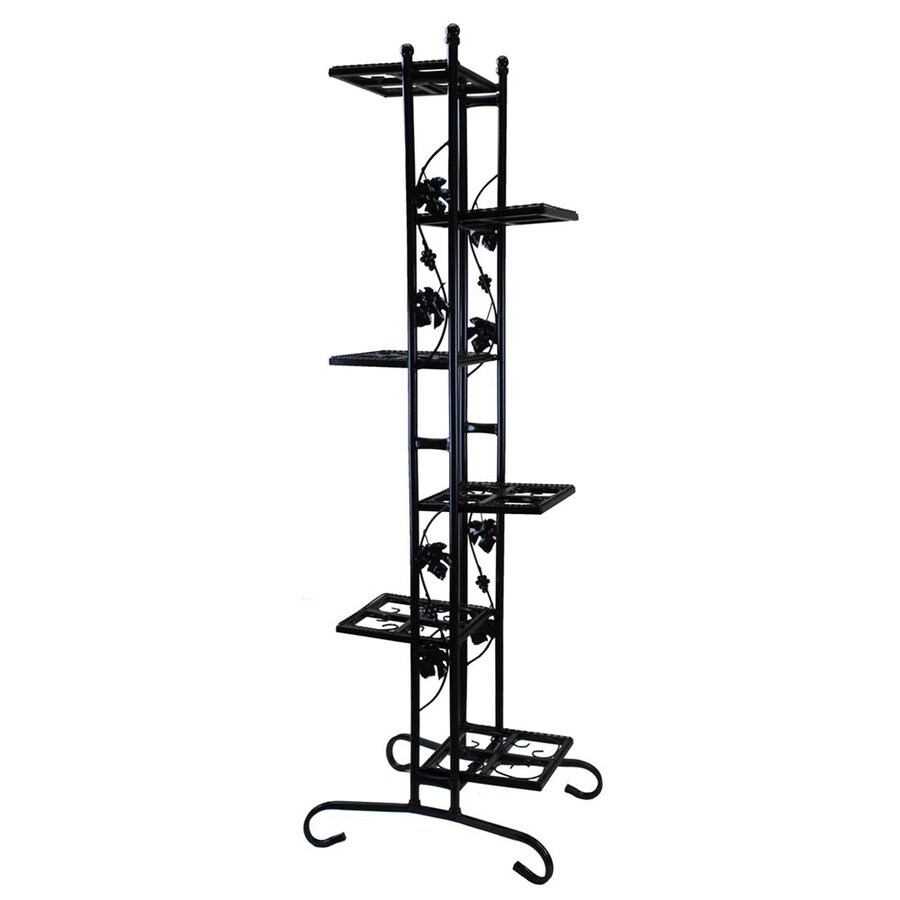 Shop Oakland Living 64.5-in Black Rectangular Wrought Iron