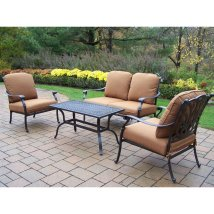 Oakland Living Hampton 4-piece Aluminum Patio