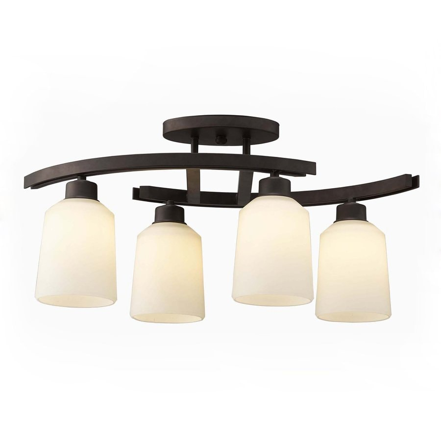 oil rubbed bronze kitchen island lighting remodeling your canarm quincy 4 in w light with frosted shade